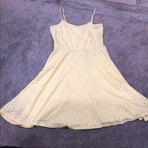 Maurices yellow dress with spa get to straps